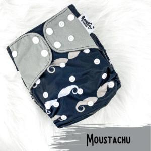 Moustachu - Couche lavables - Bambou d'C