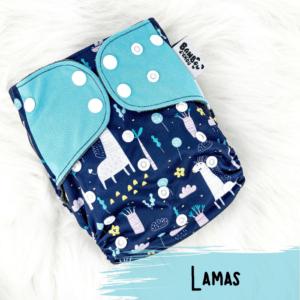 Lamas - Couche lavables - Bambou d'Chou.