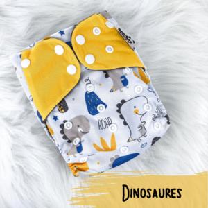 Dinosaures - Couche lavables - Bambou d'