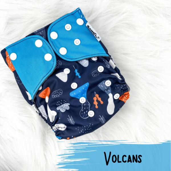 Volcans - Couche lavables - Bambou d'Cho