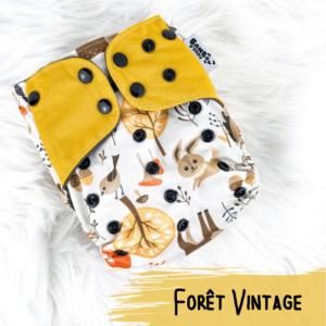 Foret Vintage - Couche lavables - Bambou