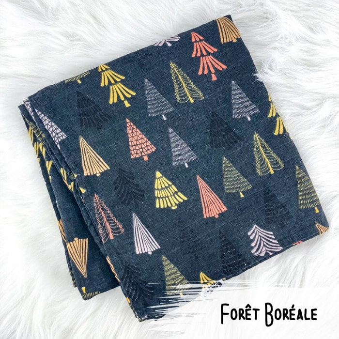 Foret Boreale - Doudou Mousseline - Bamb