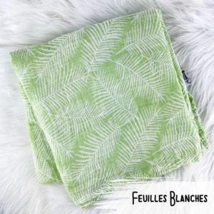 Feuilles Blanches - Doudou Mousseline -