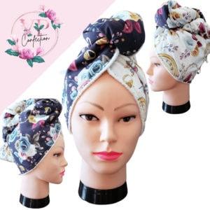 Bijouterie Florale – Serviette à cheveux