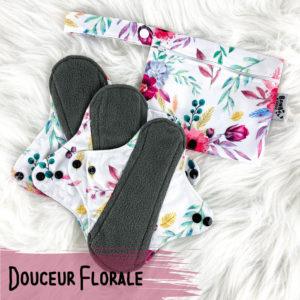 Douceur florale – Serviettes hygiéniques