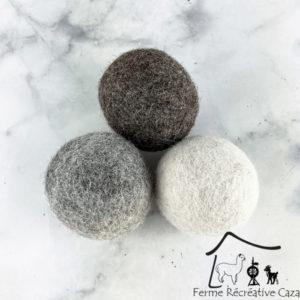 Balles de séchage en Alpaga – Ferme Récréative Caza