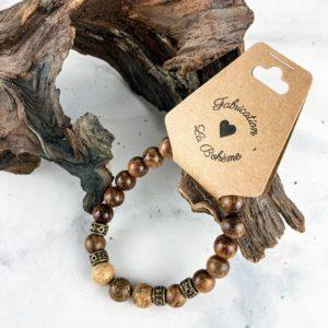 Jasper et Bois – Bracelet