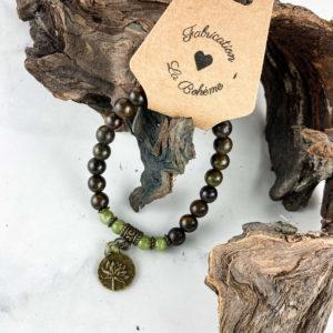Lotus et Calcédoine – Bracelet