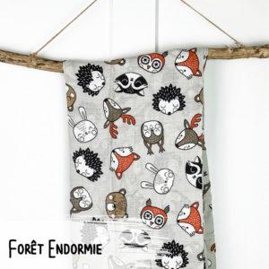 Forêt Endormie – Mousseline 100% Coton