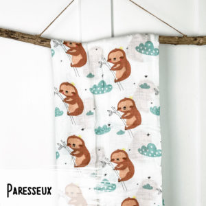 Paresseux – Mousseline Bambou/Coton